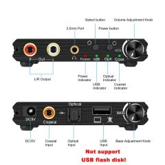 usb dac digital analog converter bass volume control artsound